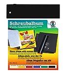 Ursus 25400090 - Schraubalbum ohne Inhalt, ca. 24,2 x 30,7 cm, schwarz