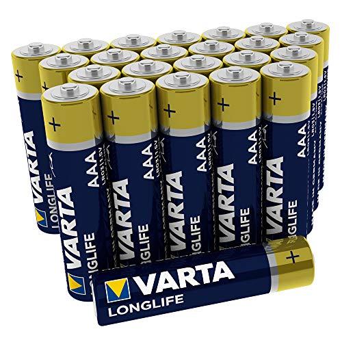 VARTA Longlife Batterie AAA Micro Alkaline Batterien LR03, 24er Pack Streamlight-pack