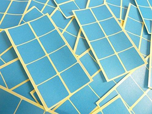 26mm (1 Pulgadas) Cuadrado Azul Medio Código De Color Adhesivos, 96 auta-Adhesivo Cuadrados adhesivo Etiquetas De Colores