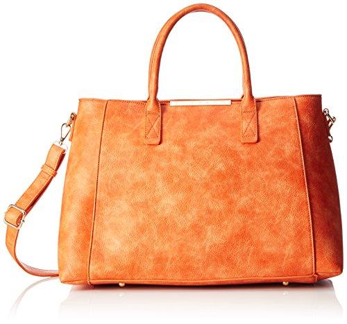Buffalo Bag BWG-06 Leather PU Damen Henkeltasche 20x30x36 cm (B x H x T), Orange (Orange 01) - 6 Buffalo