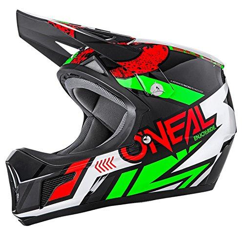 O\'Neal Sonus Strike Fahrrad Helm All Mountain Bike DH MTB Downhill Freeride Fidlock Magnetverschluss, 0481, Farbe Rot, Größe S