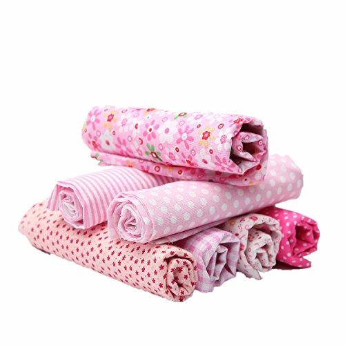 king-do-way-7-stueck-baumwollstoff-rosa-stoffpakete-patchwork-stoffe-baumwolle-stoffreste-paket-rosa