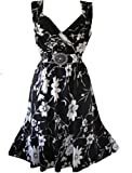 holidaysuitcase Femmes Robe - Blanc/Noir, 52/54