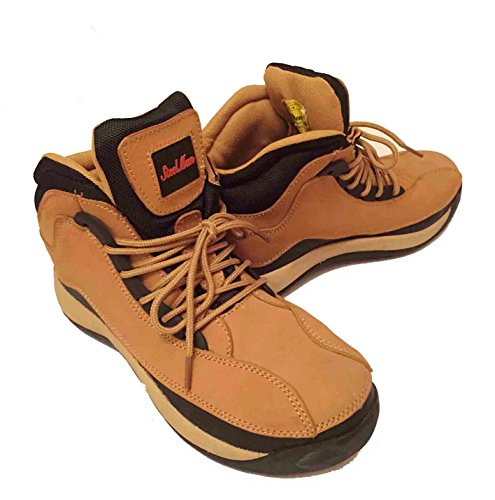 Steel Toe Cap Men`s Leather Work Boots in Honey Color (11 UK) 77f4e70c7e0