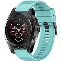 SO-buts Garmin Fenix 5X Armbänder Silikon,Ersetzen Befestigungsband Strap,Schnellspanner 26MM Armband,Für Garmin Fenix 5X