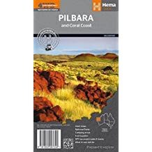 Pilbara & Coral Coast  1 : 1 250 000: GPS surveyed roads and tracks / Inset maps / Fuel supplies / Camping areas / What to see and do National Parks