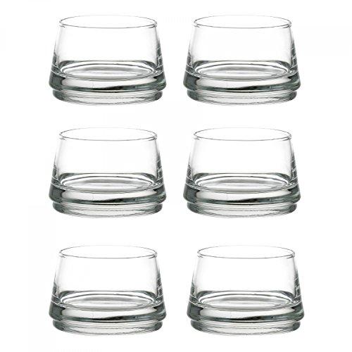 Durobor 6er Gläserset Vertigo 12 cl Amuse Bouche Ø 80 mm, H 53 mm, Dessert-Gläser, Appetizer, Vorspeise im Glas Besonderes Dessert
