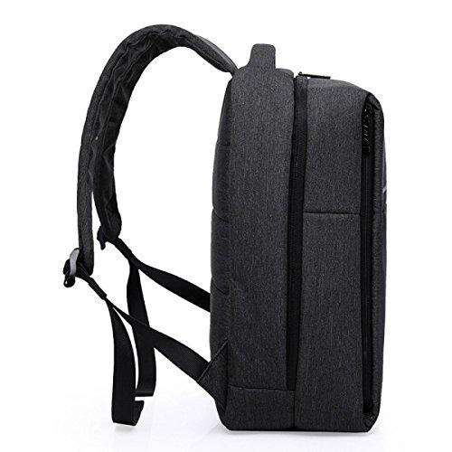 Einfache Oxford Wasserdichter Rucksack Laptoptasche Business-Tasche Grey