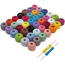 Hilo de tejer - 42 piezas Hilo de algodón - Hilo de ganchillo 74 metros Bolas
