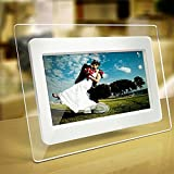 Xinji 7 inch Support 32GB SD Card TFT LCD Wide Screen Digital 2000 Photos Display Frame with Calendar Support TF Card