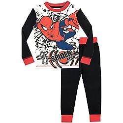 Pijama para Niños El Hombre Araña Ajuste Ceñido 4-5 Años