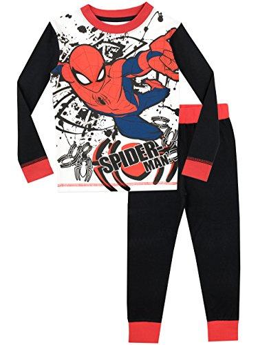 Spiderman Pijama para Niños El Hombre Araña Ajuste Ceñido 6-7 Años