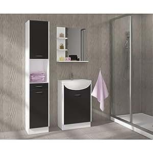 Salle de bains complète Swithome Electre Noir mat