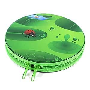 Vert Lady Beetle 24 CD DVD Sac de rangement rond