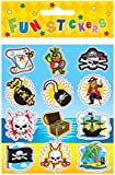 12 PACKS PIRATE STICKERS PARTY BAG FILLERS