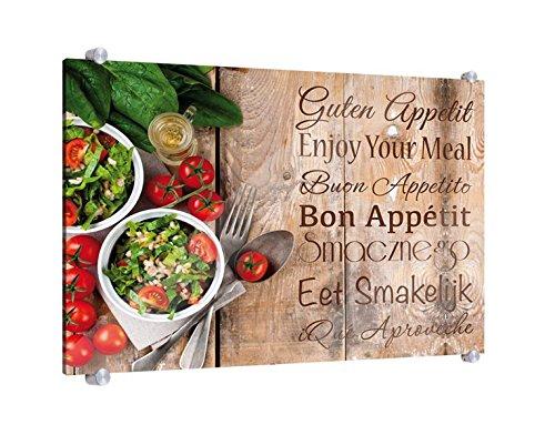 Spritzschutz Guten Appetit B x H: 80cm x 60cm (erhältlich in 2 Größen)