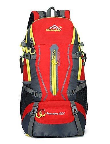 ZQ 45 L Rucksack Legere Sport / Reisen / Laufen Draußen / Leistung Wasserdicht / Multifunktions andere Nylon N/A Red