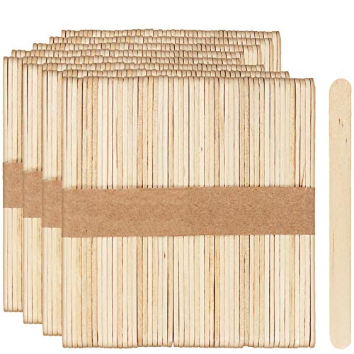 com-four® 400x Eis-Holzstiele für Cakepops, Lollies und Eis - kleine Holzstäbchen zum Basteln - Eisstäbe zum Heimwerken, 11 x 1 cm (400 Stück)