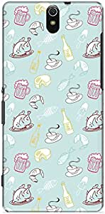 The Racoon Lean printed designer hard back mobile phone case cover for Sony Xperia C5 Ultra. (Beer Meat)
