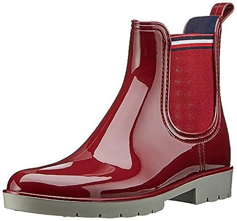 Tommy Hilfiger O1285laya 1r , Damen wellington boots, Rot (Biking Red), 39 EU