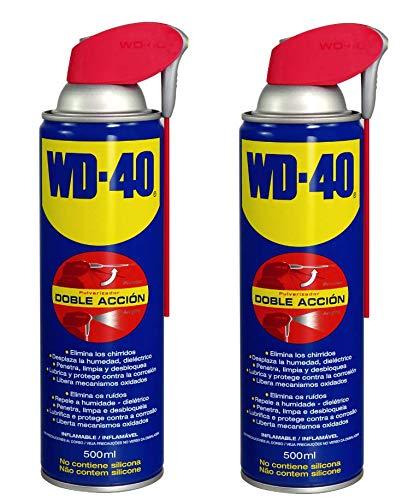 WD-40 - Lubricante WD40 Doble Accion 500ml - Pack 2 unidades