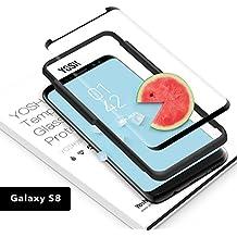 Protector de Pantalla para Samsung Galaxy S8 Cristal Vidrio Templado YOSH® Ultra Delgado (0.23mm) [Alta Sensibilidad] Adaptarse Mayoría Casos ✪ Garantía de por Vida ✪