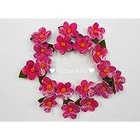 Filzblüten Frühling pink 5er Set