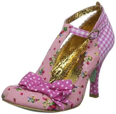 Irregular Choice Women's Bloxy Pink T Straps Heels 3614-41B 5 UK