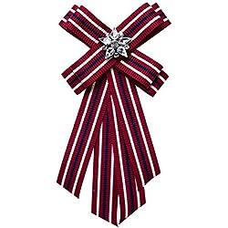 Nowbetter Broche Elegante con Lazo, Rojo, 23.5 * 11.1cm