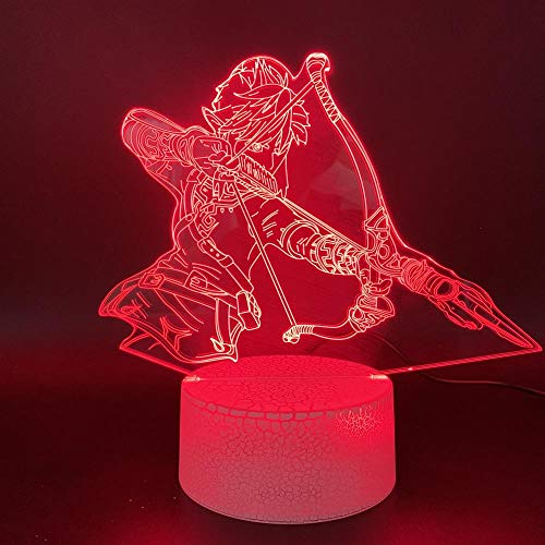 ZSSYD 3D Lámpara Óptico Illusions Luz Nocturna