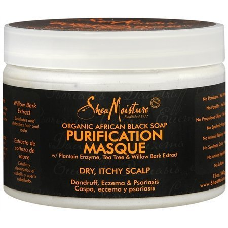 Shea Moisture Organic African Black Soap Purification Hair Masque by Shea Moisture [Beauty] (English Manual)