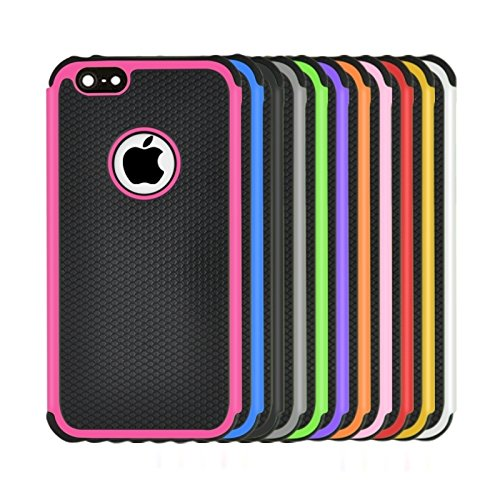 Phone case & Hülle Für IPhone 6 Plus / 6S Plus, Fußball Textur Kunststoff Fall ( Color : Pink ) Black