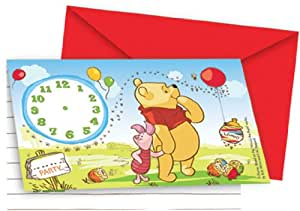 Amscan International Disney Winnie l'Ourson et Porcinet inviter