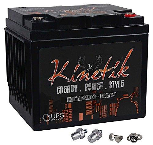 Kinetik hc1200-rev HC REV Serie 1200Watt 12V High Current AGM Auto Audio Power Zelle–Akku (Batterie Kinetik)