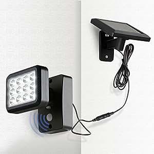 oubo led solarleuchten mit bewegungsmelder solarlampe 12 leds 300 lm 2 modi f r garten patio. Black Bedroom Furniture Sets. Home Design Ideas