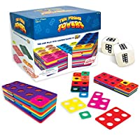 Junior Learning JL155 Ten Frame Towers Teaches Counting Numbers/Visualizing Numerals and Building Number Bonds Game