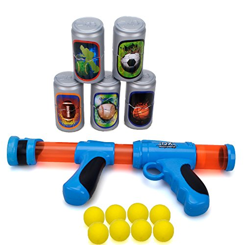Wishtime Popper Ball Shooter Gun Spielzeug TOP17014 Eva Schaum Blaster Kunststoff Power Spielzeug Pistole Pistolen für Outdoor Ziel Spiele Spaß