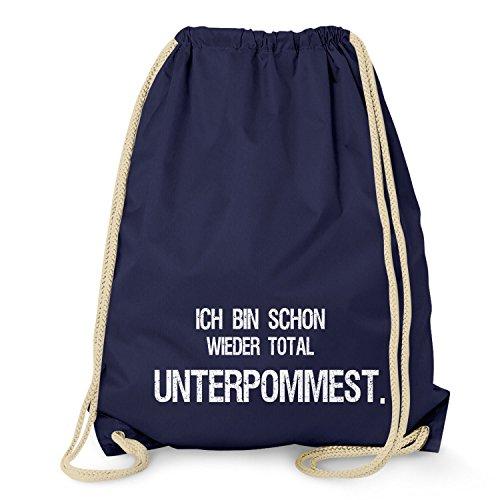 NERDO Total unterpommest - Turnbeutel, navy (Salz Des Lebens T-shirt)