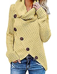 ALIKEEY Las Mujeres Botón De Manga Larga Suéter Jersey Tops Blusa Camisa CáRdigan Crop Tops For Women Under Dollars Long Sleeve Graphic