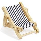 Deko-Liegestuhl ca. 15 cm blau-weiß