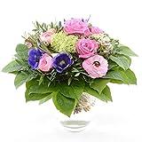 Express! Blumenversand im Frühling - mit dem Blumenstrauss - Pink Spring - mit rosa Ranunkeln, blauen Anemonen und pink Rosen - mit Gratis Grußkarte!