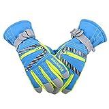 TRIWONDER wasserdichte Ski Snowboard Handschuhe Thermische warme Winter Schnee Ski Handschuhe für Männer, Frauen und Kinder (blau, M (9-14 Jahre))