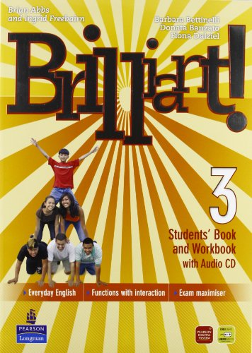 Brilliant! Student's book-Workbook-Culture book. Ediz. leggera. Per la Scuola media. Con CD Audio. Con DVD-ROM. Con espansione online: 3