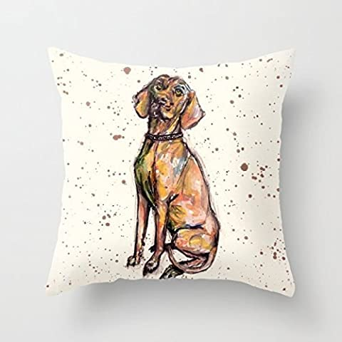 18X 18Inch / 45 By 45 Cm Dogs Pillow Cases,print On 2 Sides For Bench, Study Room, Wedding, Mother's Day, Father's Day, Gift For Boy Friend, Bedroom Decor, Club, Christmas, Diwan,