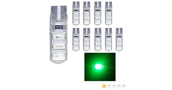 bagagliaio Ruesious modello 501/W5/W con LED bianco T10/6 SMD 5630,/ad alta potenza targhe per interni auto confezione da 10 lampadine