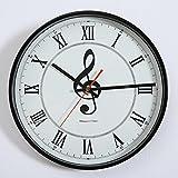 Mute orologio di moda orologio da salotto nota creativa tavolo appeso semplice orologio da parete della parete di personalità