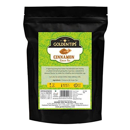 Golden Tips Cinnamon Green Tea (40+ Cups, 100gm) | Perfect Blend of...