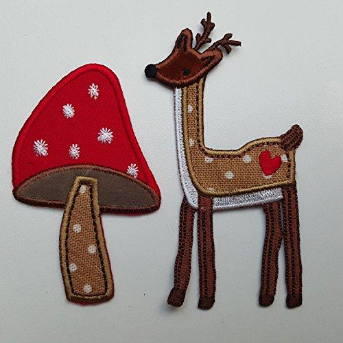 trickyboo-2-cusson-brod-patch-champignon-chevreuil-faire-anniversaire-motifs-chiffon-applications-le