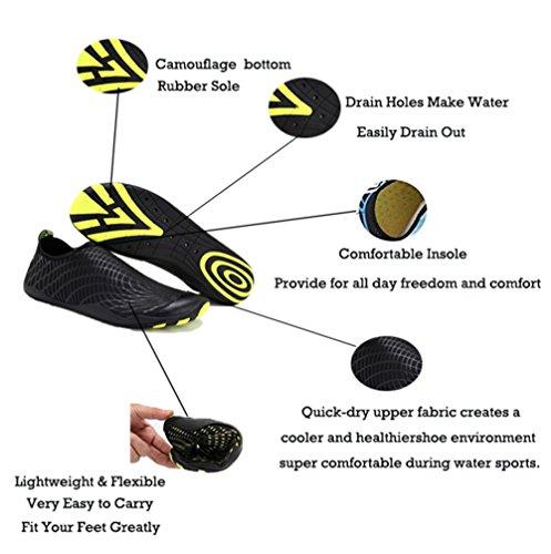 IceUnicorn , Chaussures d'extérieur spécial plage/piscine pour femme Noir
