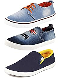 Maddy Combo Pack of 3 Loafer Shoes For Men In Various Sizes